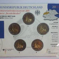 Euros: ALEMANIA 2011 RENANIA-WESTFALIA 5 MONEDAS DE 2 EUROS 5 CECAS. Lote 52017762