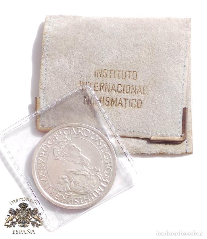 MONEDA DE PLATA DE 5 ECUS DE BELGICA CARLOS V AÑO 1987 (Numismática - España Modernas y Contemporáneas - Ecus y Euros)