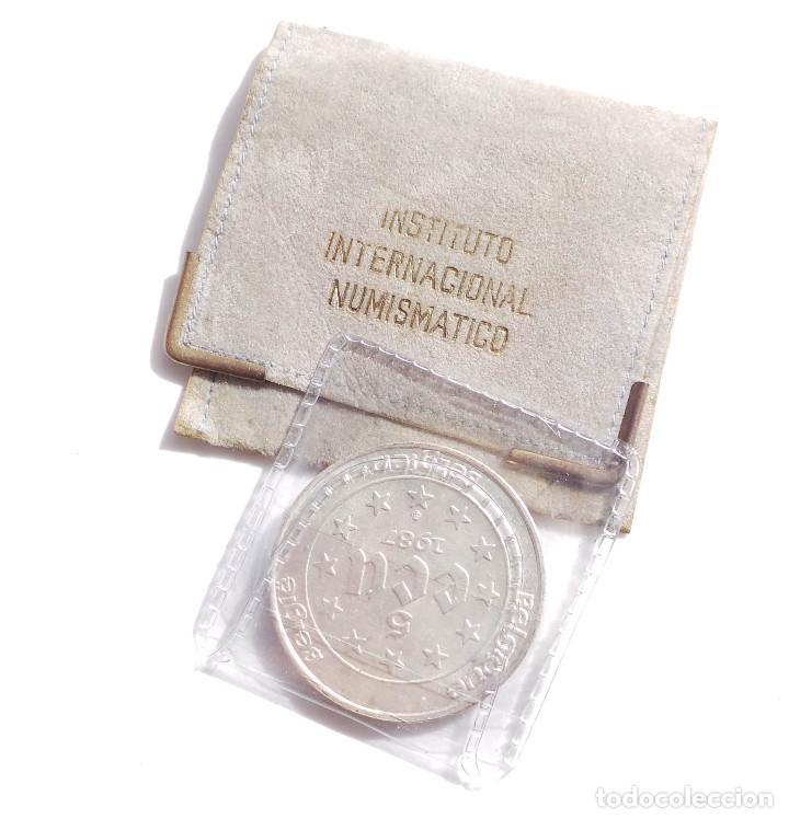 Euros: MONEDA DE PLATA DE 5 ECUS DE BELGICA CARLOS V AÑO 1987 - Foto 2 - 99451111