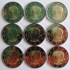 Euros: LOTE DE 9 MONEDAS DE 2 EUROS DE 2014. Lote 99513023