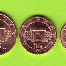 Euros: TRIO CENTIMOS 1 2 5 EURO MALTA 2016 SIN CIRCULAR. Lote 137348600