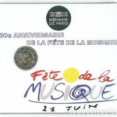 Euros: BLISTER 2 EUROS FRANCIA 2011 - FIESTA DE LA MUSICA (FETE DE LA MUSIQUE). Lote 101098747
