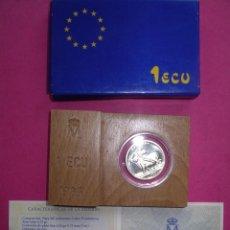 Euros: 1 UN ECU ESPAÑA 1989 EUROPA PLATA SIN CIRCULAR ESTUCHE Y CAJA ORIGINALES. Lote 101145327