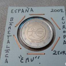 Euros: MONEDA 2 EUROS ESPAÑA 2009 EMU MBC ENCARTONADA. Lote 210657090