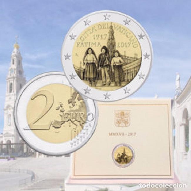 VATICANO 2017. COINCARD DE 2 EUROS DE LA APARICION DE FATIMA. (Numismática - España Modernas y Contemporáneas - Ecus y Euros)
