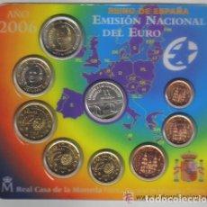 Euros: EUROS ESPAÑA CARTERA OFICIAL NUEVE VALORES 2006 (MEDALLA DE PLATA XX ANIVERSARIO) . Lote 103868243