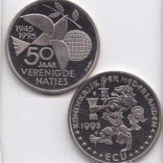 Euros: 1 ECU 1995 HOLANDA COMEMORATIVA A LOS 50 AÑOS DE LA ONU . Lote 103937031
