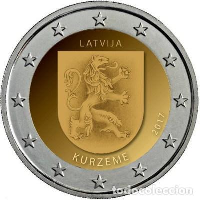 LETONIA 2 EUROS 2017 REGIÓN DE KURZEME (Numismática - España Modernas y Contemporáneas - Ecus y Euros)