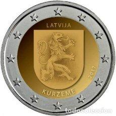 Euros: LETONIA 2 EUROS 2017 REGIÓN DE KURZEME. Lote 187429166
