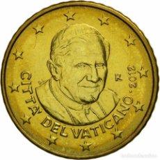 Euros: VATICANO 50 CÉNTIMOS DE EURO PAPA BENEDICTO XVI - 2012 KM 387 SC UNC. Lote 122249732