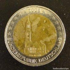Euros: ALEMANIA 2 EUROS 2008 F. CONMEMORATIVA CATEDRAL HAMBURGO. Lote 106352099