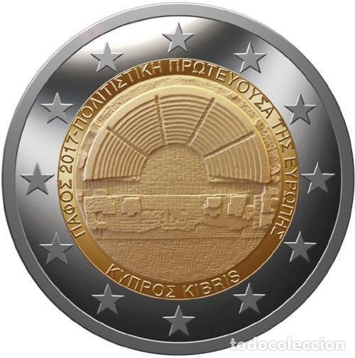 CHIPRE 2 EUROS 2017 PAFOS, CAPITAL EUROPEA DE LA CULTURA 2017 (Numismática - España Modernas y Contemporáneas - Ecus y Euros)