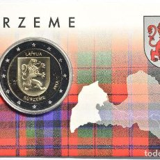 Euros: LETONIA 2017. COINCARD DE 2 EUROS DE LA REGION DE KURZEME.. Lote 107706079