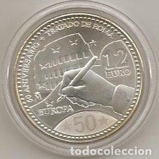 Euros: ESPAÑA 2007. 12 EUROS DE PLATA CONMEMORATIVOS DEL 50 ANIVERSARIO. DEL TRATADO DE ROMA EN CAPSULA (5). Lote 107774791