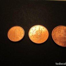 Euros: LOTE DE 1,2 Y 5 CÉNTIMOS DE SAN MARINO (SIN CIRCULAR) PROCEDEN DE CARTUCHOS. Lote 128032912