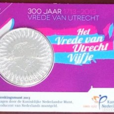 Euros: 5 EUROS HOLANDA -300 ANIVERSARIO DE LA PAZ DE UTRECH-, 2013 EN COINCARD (BLISTER-CARNET). Lote 200798033