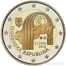 Euros: 2 EUROS ESLOVAQUIA 2018 25 ANIV. REPUBLICA. Lote 143116645