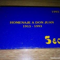 Euros: 5 ECU DE PLATA DE 1993. HOMENAJE A DON JUAN. ESTUCHE + CERTIFICADO. Lote 194647793