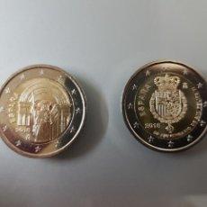 Euros: 2X 2 EUROS 2018 ESPAÑA SANTIAGO DE COMPOSTELA Y 50' ANIV. FELIPE VI ¡ENVÍO YA!. Lote 113215686