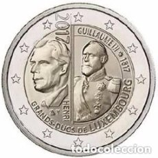 Euros: LUXEMBURGO 2017. MONEDA DE 2 EUROS CONMEMORATIVA 200 ANIVERSARIO DEL GD GUILLERMO III. Lote 143529229