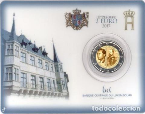 LUXEMBURGO 2017. COINCARD DE 2 EUROS CONMEMORATIVO DE LOS 200 AÑOS GUILLERMO III (Numismática - España Modernas y Contemporáneas - Ecus y Euros)