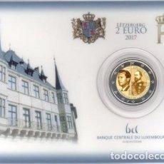 Euros: LUXEMBURGO 2017. COINCARD DE 2 EUROS CONMEMORATIVO DE LOS 200 AÑOS GUILLERMO III. Lote 111818931