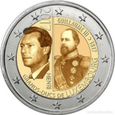 Euros: LUXEMBURGO 2 EUROS 2017 200º ANIV. DEL NACIMIENTO DEL GRAN DUQUE GUILLERMO III. Lote 260559895