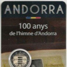 Euros: MONEDA DE 2 EUROS DE ANDORRA DE 2017 CONMEMORATIVA 100 AÑOS DEL HIMNO EN BLISTER OFICIAL NUMERADO. . Lote 112648759
