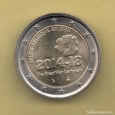Euros: BELGICA - BELGIE 2 EUROS 2014 CENTENARIO GRAN GUERRA. Lote 136092036