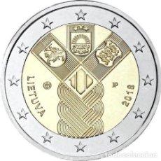 Euros: 2 EUROW CONMEMORATIVA LITUANIA 2018 ESTADOS BALTICOS SC. Lote 113105975