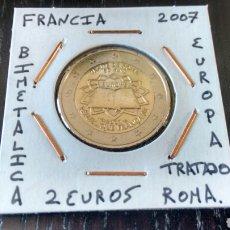Euros: MONEDA 2 EUROS FRANCIA 2007 TRATADO DE ROMA MBC ENCARTONADA. Lote 211444832