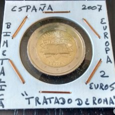 Euros: MONEDA 2 EUROS ESPAÑA 2007 TRATADO DE ROMA MBC ENCARTONADA. Lote 210636591