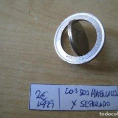 Euros: MONEDA DE 2 EUROS ESPAÑA 1999 RAREZA LOS DOS MATERIALES X SEPARADO. Lote 114969159