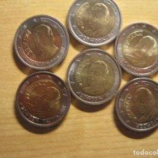 Euros: MONEDAS DE 2 EUROS ESPAÑA REY EN TIRAS DE PAPEL ECO. Lote 114971135