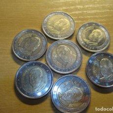Euros: MONEDAS DE 2 EUROS ESPAÑA REY EN TIRAS DE PAPEL ECO. Lote 114971311