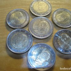 Euros: MONEDAS DE 2 EUROS ESPAÑA REY EN TIRAS DE PAPEL ECO. Lote 114971451