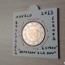 Euros: MONEDA 2€ MÓNACO 2013 ADMISIÓN A LA ONU SIN CIRCULAR ENCARTONADA. Lote 114976488