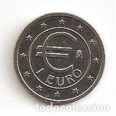 Euros: SERIE DEL EURO EN PRUEBA MONEDA 1 EURO 1998 MADRID. (CUPRONÍQUEL) S/C. Lote 115070391