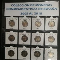 Euros: COLECCIÓN 2 EUROS CONMEMORATIVOS ESPAÑA 2005 / 2018. Lote 122733230