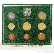 Euros: CARTERA EUROS VATICANO 2018. EMISIÓN OFICIAL (EURO SET) SIN CIRCULAR.. Lote 115102875