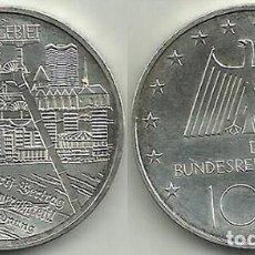 Euros: 10 € PLATA ALEMANIA 2003 - CECA F - REGIÓN DE RUHR - S/C.. Lote 116908187