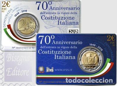 ITALIA 2018. COINCAR DE 2 EUROS DEDICADA A LA CONSTITUCION (Numismática - España Modernas y Contemporáneas - Ecus y Euros)