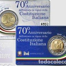Euros: ITALIA 2018. COINCAR DE 2 EUROS DEDICADA A LA CONSTITUCION. Lote 117243987