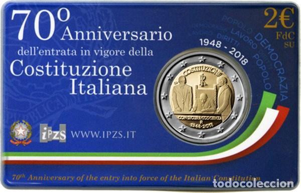 Euros: ITALIA 2018. COINCAR DE 2 EUROS DEDICADA A LA CONSTITUCION - Foto 2 - 117243987