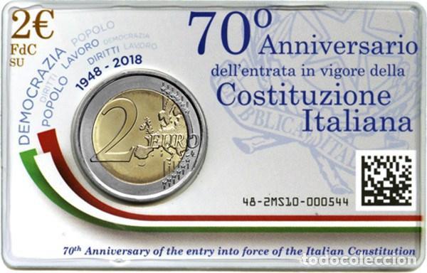 Euros: ITALIA 2018. COINCAR DE 2 EUROS DEDICADA A LA CONSTITUCION - Foto 3 - 117243987