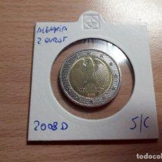 Euros: 10-00076 - ALEMANIA 2€ 2008-D, . Lote 118671375