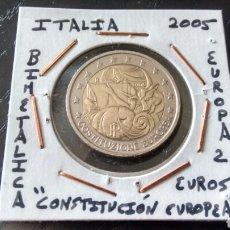 Euros: MONEDA 2 EUROS ITALIA 2005 CONSTITUCIÓN EUROPEA MBC ENCARTONADA. Lote 152545213