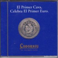 Euros: MONEDA DE PLATA DE EL PRIMER EURO DE CODORNIU CON CERTIFICADO DE GARANTIA. Lote 121320075