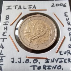 Euros: MONEDA 2 EUROS ITALIA 2006 JUEGOS OLIMPICOS INVIERNO TORINO MBC ENCARTONADA. Lote 211523435