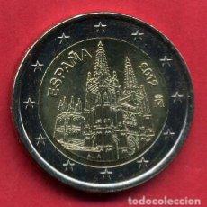 Euros: MONEDA DE 2 EUROS ESPAÑA CONMEMORATIVA AÑO 2012 CATEDRAL DE BURGOS, NUEVA DE CARTUCHO, ORIGINAL. Lote 202624656